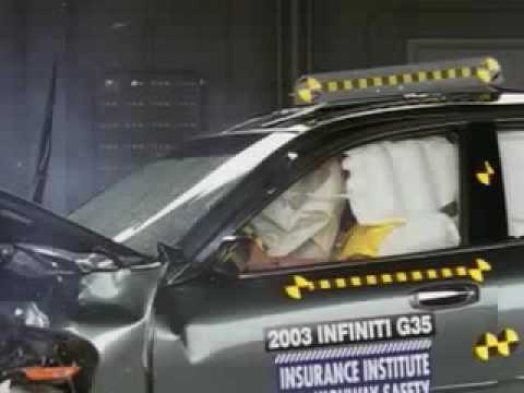 2003-2006 Infiniti G35 Crash Test Video