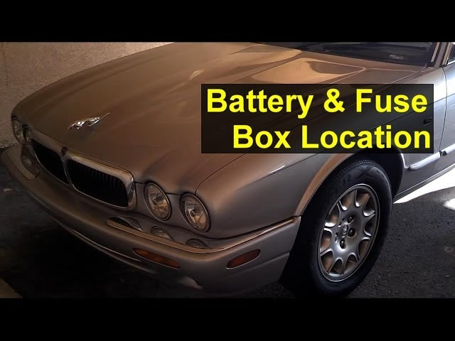 Jaguar battery and fuse box location, battery removal, and ...