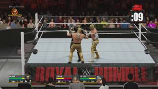 WWE Royal Rumble 2016 Match HD (2K16)