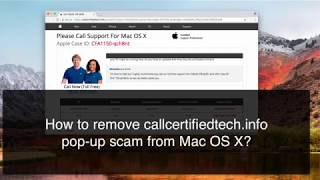 Callcertifiedtech.info 1 (844) 378-0587 scam removal from Mac OS X.