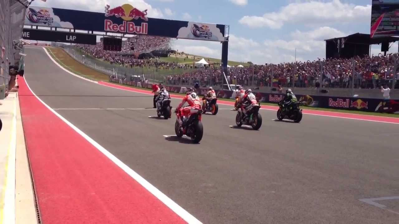 MotoGP Starting Grid at Circuit of the Americas! - YouTube
