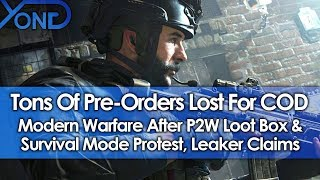 Tons of Pre-Orders Lost For Modern Warfare After P2W Loot Box/Survival Mode Protest, Leaker Claims