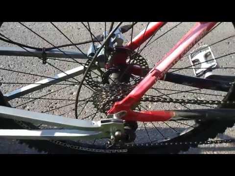 Eigenbau Ebike Schubanhänger 1000W 36V / home built e-bike push trailer DIY Lifepo4 36v 20ah
