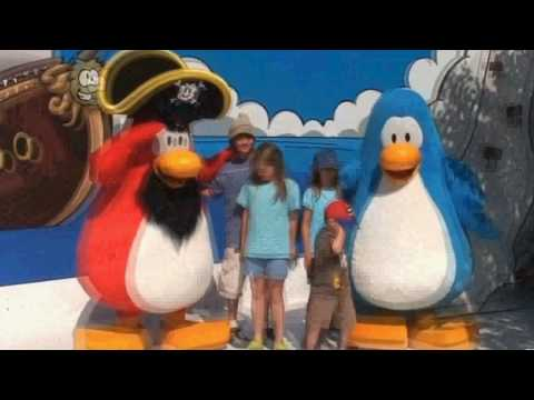 Club Penguin ~ Rockhopper and Bambadee at Disney Land