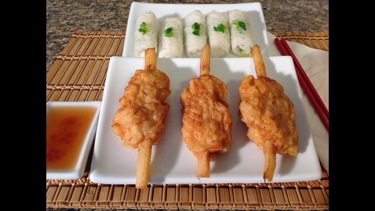 ... Chao Tom-How To Make Shrimp Paste On Sugarcane-Recipes-Vietnamese Food