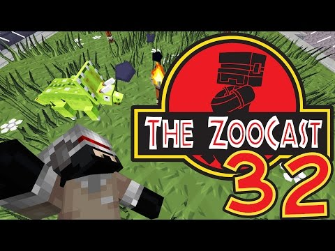 Minecraft Jurassic Park #32 Hatching Triceratops! [ZooCast]