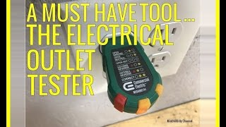 A MUST HAVE TOOL - The Electrical Outlet Tester - How to use and why you should have it