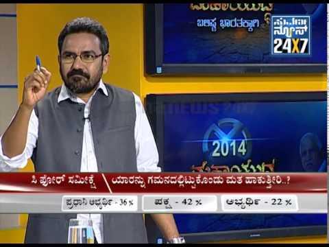 C-Fore pre-poll survey results for Elections 2014 in Karnataka seg 1 - Suvarna News