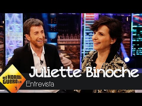 """Juliette Binoche: """"Ganar premios no me ha cambiado la vida"""" - El Hormiguero 3.0"""