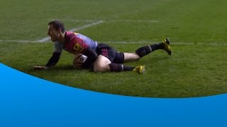 Tim Visser scores his first Premiership try | Rugby Video Highlights