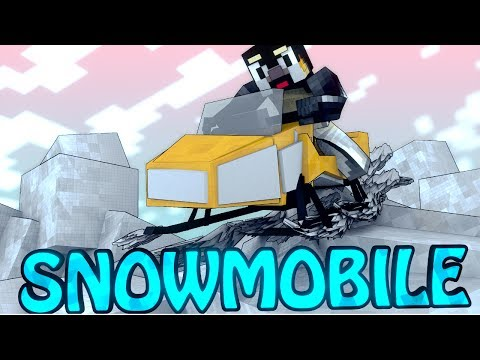 Minecraft | SKI DOO SNOWMOBILE MOD Showcase! (Snowmobiling, Water Crossing, Explosions)