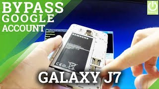 Bypass Google Account Verification in SAMSUNG Galaxy J7 - FRP Bypass for ALL SAMSUNG