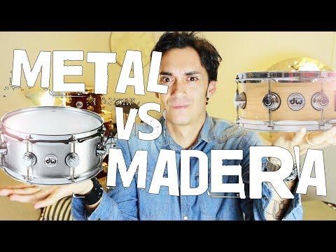 Redoblantes de METAL vs MADERA!