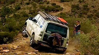 4x4 Off Road Rugged Flinders Rangers Mitsubishi PAJERO (feat Patrol Y62) Drone footage