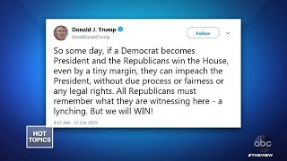 "Trump Compares Impeachment Inquiry To A ""Lynching,"" Part 1 