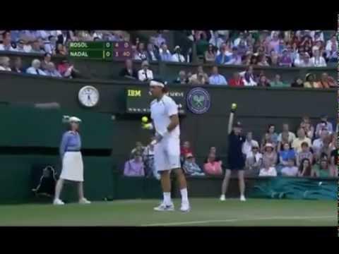Nadal vs Rosol Wimbledon 2012