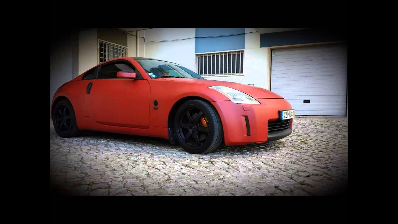 Nissan 350z Car Wrap Red Matte Mettalic By Proglass