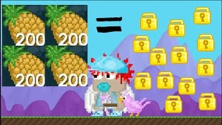 Growtopia | How to Make Tons of Wls In Pineapple Week |