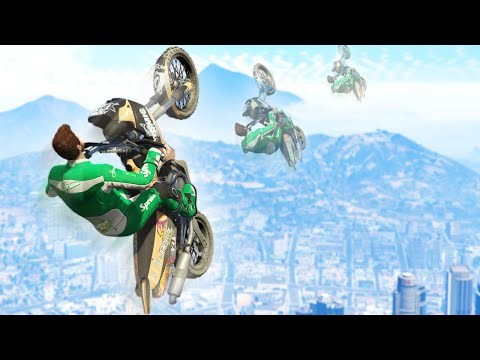 FLY TO SPACE BIKE GLITCH! (GTA 5 Funny Moments)
