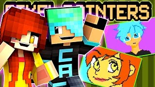 Minecraft Pixel Painters - We're Anime Characters. CHAD FTW!!! - DOLLASTIC PLAYS with Gamer Chad!
