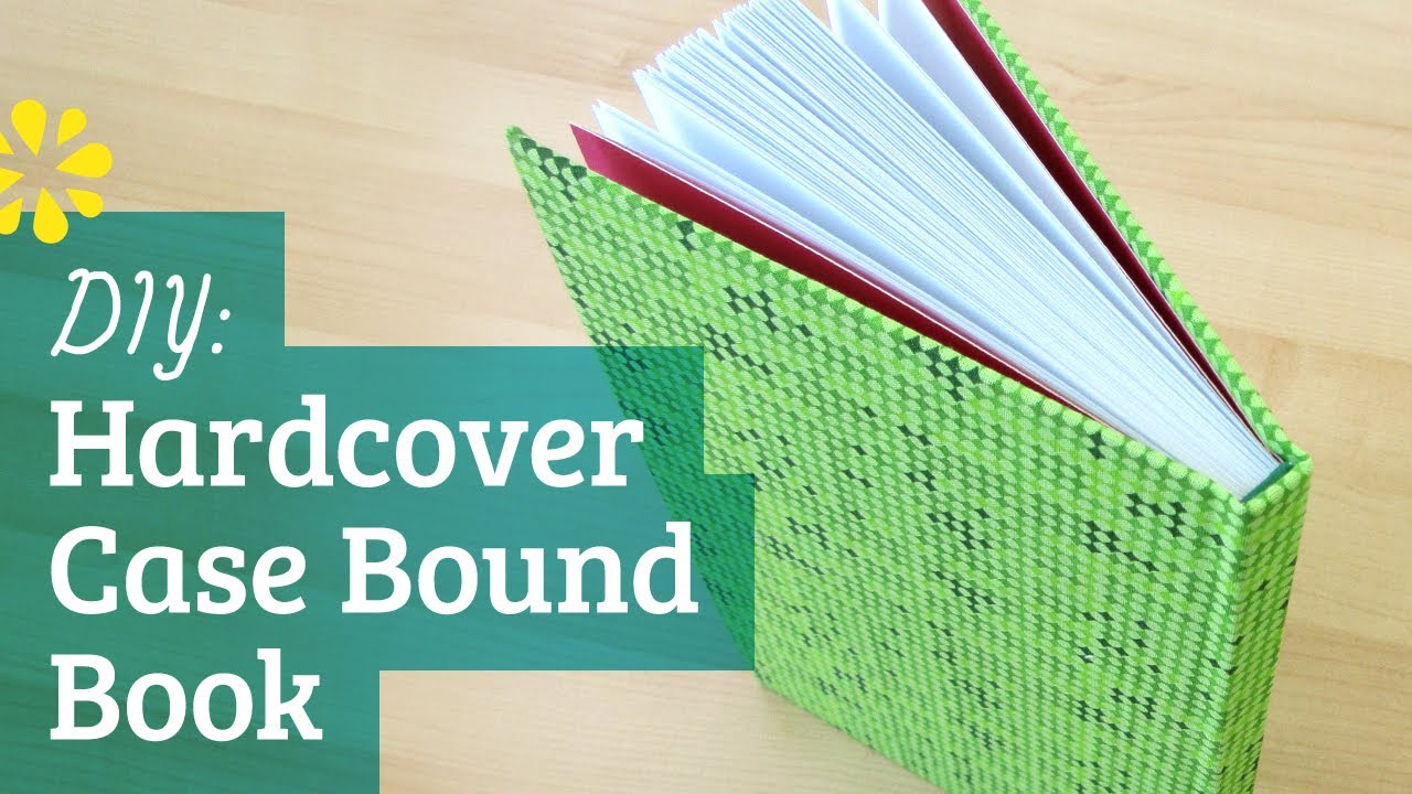Hardcover Book Paper Cover : How to make a hardcover book case binding youtube
