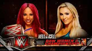 WWE Hell In A Cell Match Card : Sasha Banks VS. Charlotte | WWE FANATICOS