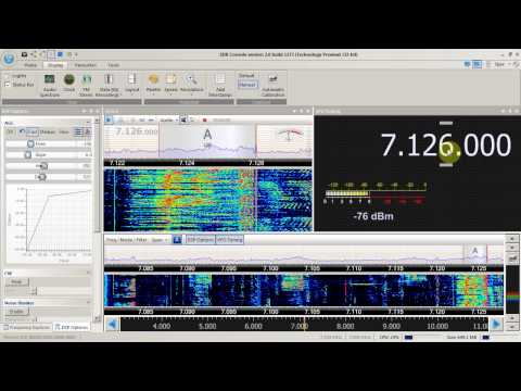 Ham s on 40m  SDR Console version 2.0