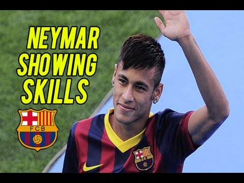 Neymar Showing Off Skills at Barcelona Stadium