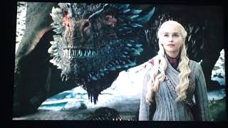 Daenerys  Checks On Drogon & Rhaegal - Game of Thrones Season 8 Episode 4 - Rhagael Gets Hurt