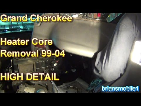 Grand Cherokee Heater Core Removal High Detail
