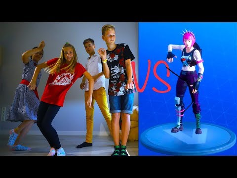 FORTNITE DANCE CHALLENGE!  In Real Life Кто КРУЧЕ ТАНЦУЕТ