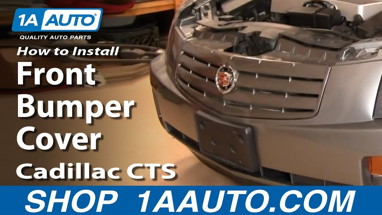 how to install replace front bumper cover cadillac cts 03