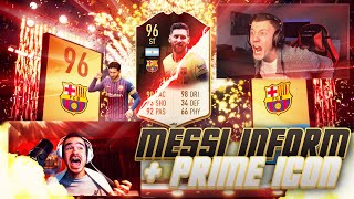 MESSI 96 INFORM + PRIME ICON IM PACK 🔥🔥🔥 FIFA 19 PACK OPENING