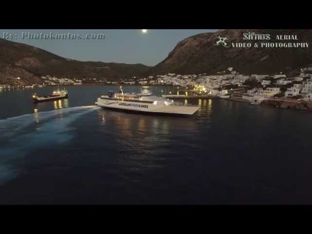 Speed Runner IV Arrival at Sifnos Port In The Dusk