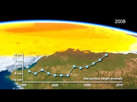 Sea Height/Fresh Water Increasing In Arctic Ocean (1995-2010)
