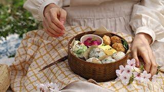 [ENG CC] 🌸봄 향기로 가득 채운, 초간단 봄나물 주먹밥 🍙: Spring Vegetable Rice Balls [아내의 식탁]