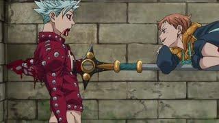 King stabs ban (eng dub) king vs ban!!