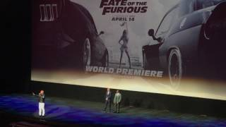 Vin Diesel Honoring Paul Walker - The Fate of the Furious New York Premiere