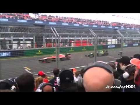 Сравнение звука болидов Формула 1 в 2013 и 2014 году