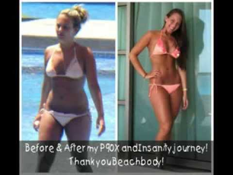 P90X Insanity & Shakeology Women's Transformation & Results