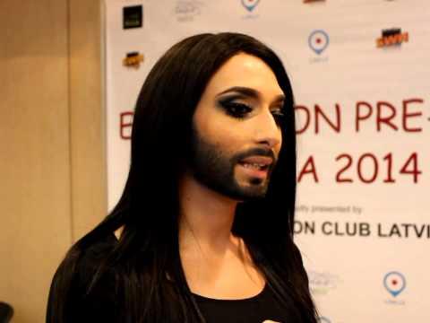 Eurovision preParty Riga: Conchita Wurst (Austria)interview