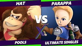 Smash Ultimate Tournament - hat (Donkey Kong) Vs. Parappa (Mii Swordfighter) S@X 285 SSBU Pools