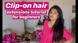 How to attach clip on hair extensions l How to blend short hair with extensions l Harshada Waghmare