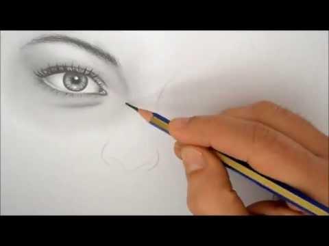 Kara Kalem Çalışması - Burun Çizimi
