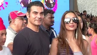 Malaika & Arbaaz Khan TOGETHER First Time After DIVORCE At Justin Bieber's Mumbai Concert