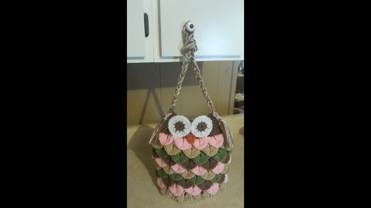 Free Crochet Pattern Owl Tote Bag : #Crochet Owl Bag Purse #TUTORIAL Adorable affordable ...