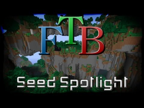 Minecraft Feed the Beast Unleashed Seed - Most Amazing Mountains Ever!
