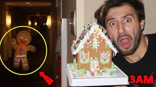 DONT BUILD A GINGERBREAD HOUSE BEFORE CHRISTMAS AT 3AM (GONE WRONG)   GINGERBREAD MAN COMES TO LIFE!