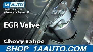 How to Replace EGR Valve 96-02 Chevy Tahoe