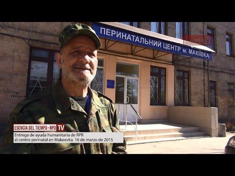 Entrega de ayuda humanitaria de RPR al centro perinatal en Makeevka